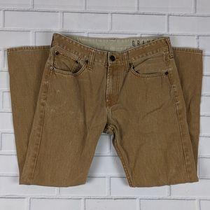 Bullhead Denim Gravels Sz 32X30 Jeans Slim Fit Tan